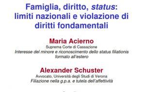 Famiglia, diritto, status: limiti nazionali e violazione di diritti fondamentali